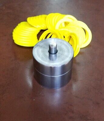 """Coin Ring Center Punch That Will Punch A 3/8"""" Hole & 41 Plastic Spacers"""