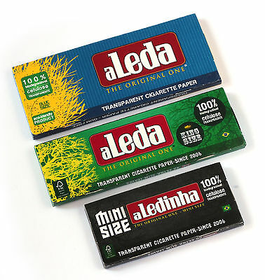 aLeda 3 different clear Cellulose paper from Brazil - 3 booklets = 140 leaves