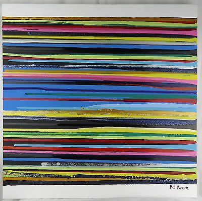 Phil Pierre - STRIPES 086 - new original abstract acrylic art painting on canvas