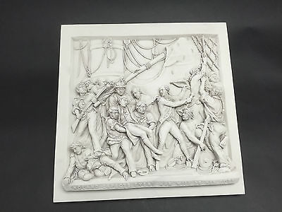 Death Of Nelson Carrara Marble wall hanging plaque Sculpture. Art, Gift,Ornament