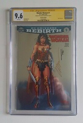 Wonder Woman #1 Rebirth CGC 9.6 SDCC Foil  Variant Signed by Jim Lee + Williams