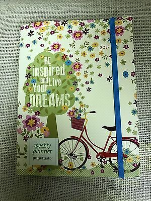 2017 Weekly Planner- 6x8 - 18 Month Engagement Calendar- Punctuate- Dreams- NEW