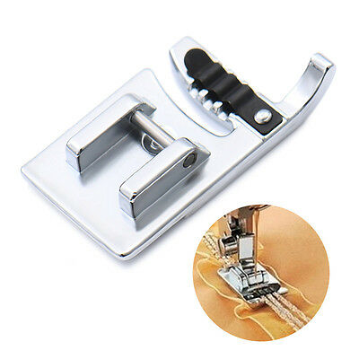 Stainless Steel 3-Needle Stiches Cording Presser Foot f/ Electric Sewing Machine