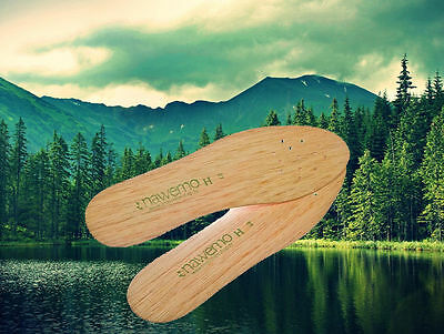 Nawemo: Natural Cedar insoles against athletes foot, sweaty and smelly feet
