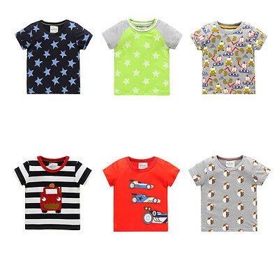 T shirt Baby Boys Summer Tops Tee Shirt 100% Cotton T-shirt Kids Cartoon Short