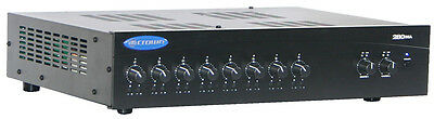 Crown Commercial Mixer Amplifier 280MA 2 x 80w@70v/100v or low impedance,8 input