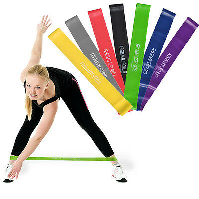 30cm Yoga Resistance Band Loop Pilates Strap Home Gym Fitness Exercise Workout