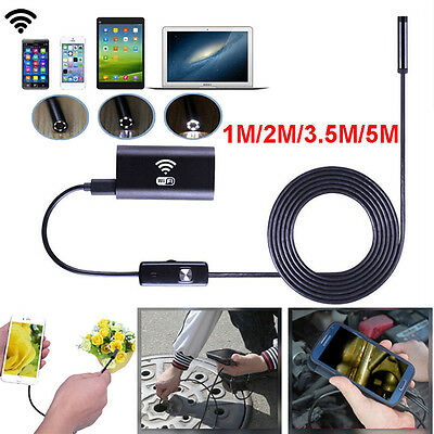 1m/2m/3.5/5m Wifi 8mm 720P HD IP67 Endoskop Kamera Inspektion für ios/Android/PC