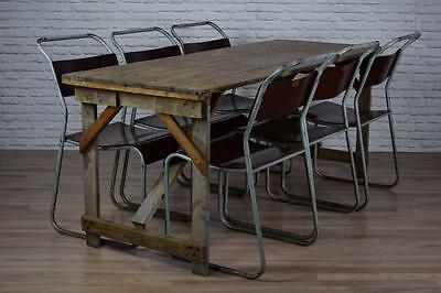 Vintage Industrial Style 6ft Pine Cafe Bar Garden Trestle Tables 25 AVAILABLE
