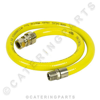 1M Long Tube Kit Flexible Gas Hose Connector Pipe For Fixed Hob Installation