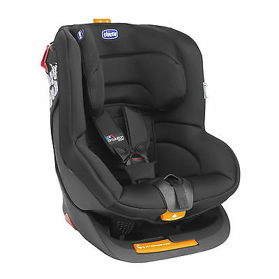 New Chicco Black Oasys Group 1 Reclining Car Seat Padded Baby Childs Carseat