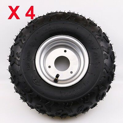4X 145/70-6 Tire Tyre and Rim for 50cc 110cc ATV Go Kart Buggy Razor Scooter