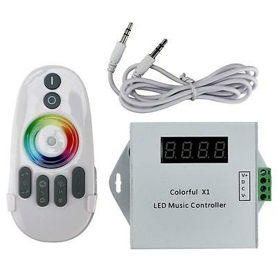 DC12V Colorful X1 Led Digital Music Controller Set W/ RF Touch Remote New