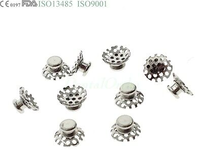 10 Pcs Lingual Button Tomy Dental Orthodontic Niti wire Molar Band Buccal Tube