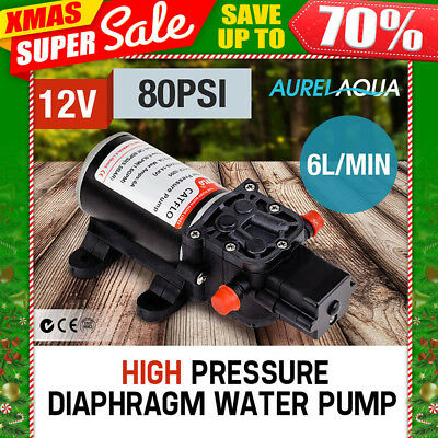 5LPM 12V 100PSI Diaphragm Water Pump Self Priming Caravan Boat High Pressure