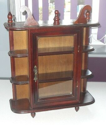 VINTAGE  RETRO MID CENTURY 1960/70s  WALL WHATNOT DISPLAY CABINET SHELF UNIT