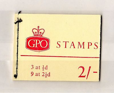 GB QEII 2/- Complete Booklet Holiday Resort Mint X6098