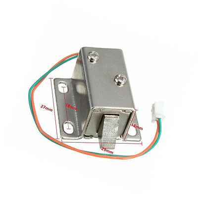 DC 12V Electric Solenoid Lock Tongue Upward Assembly for Door Cabinet Drawer CA