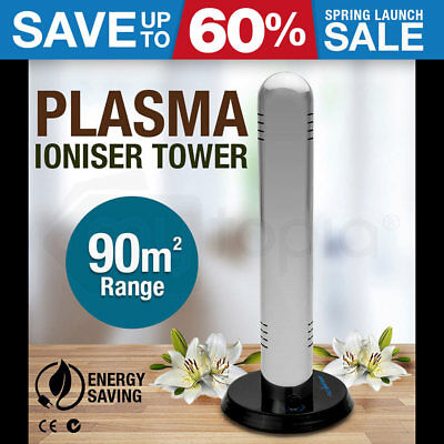 NEW! SIMTECH Ionic Home Air Purifier Filter Tower Plasma Ion Office Room Ioniser
