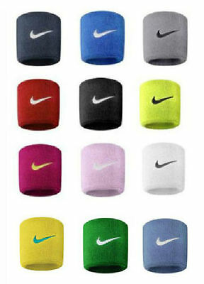 Nike Swoosh Sports Sweat Stretch Wristbands Set Of 2 Tennis Official Gym Wrist