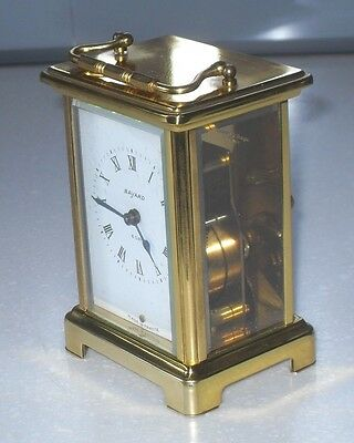 Quality Duverdrey & Bloquel Bayard French Mechanical 8 Day Carriage Clock