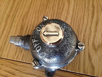 Vintage Old Industrial Walsall  Light Switch Restored Perfect Original