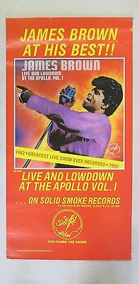 Original 1980 James Brown Live & Lowdown At The Apollo Re-Release Store Poster