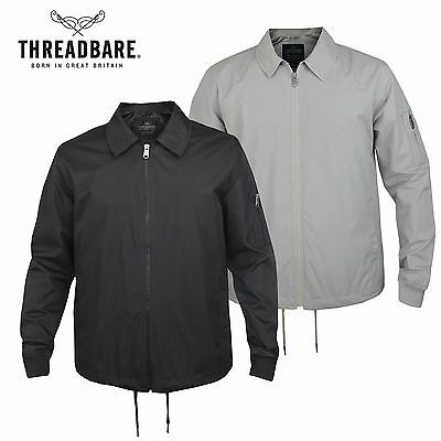 e0bee5ec86a7 Mens Threadbare Lightweight Spread Collar Zip Up Mac Jacket Summer Trench  Coat