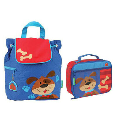 Stephen Joseph Lunch Box & Quilted Backpack Dog Unisex Kids Lunch Box & Backpack