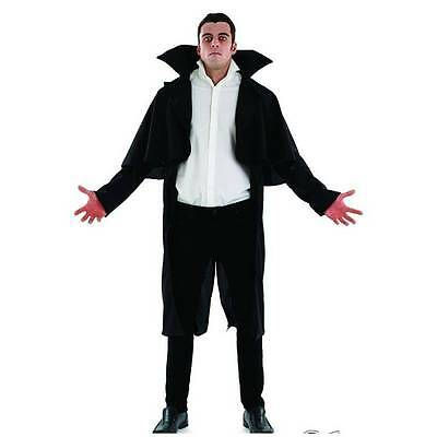 Deluxe Vampire Dracula Jacket with Tails Halloween Adult Fancy Dress Costume