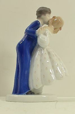 Bing & Grondahl Porcelain Figurine 2162 First Kiss Youthful Boldness 8""