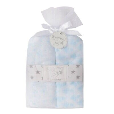3 PACK   Baby muslin Blanket design on 100% Muslin Cotton - Cloth cute