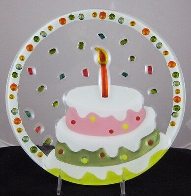Silvestri Happy Birthday Cake Plate By Lori Siebert