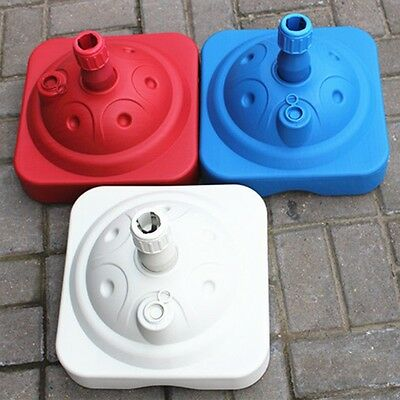 New Parasol Base Fishing Umbrella Stand Water/Sand Filled Holder Outdoor Supply