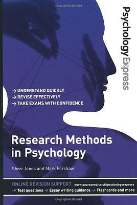 Psychology Express: Research Methods in Psychology..., Jones, Dr Steve Paperback