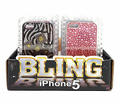 New Wholesale Lot 12 iPhone 5 Bling Cases Retail Display Jewel Resale Fleamarket
