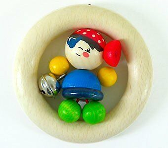 Hess Wooden Baby Toy Figurine Chain Clip On Hubert