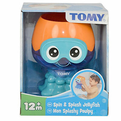 Tomy Baby/Toddler Bath Spin Splash Jellyfish Water Toy 12+/ Kids Fun Shower/Pool
