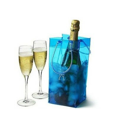 Blue Ice Bag Gift Wine Drinks Cooler Chiller