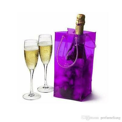 Purple Ice Bag Gift Wine Drinks Cooler Chiller