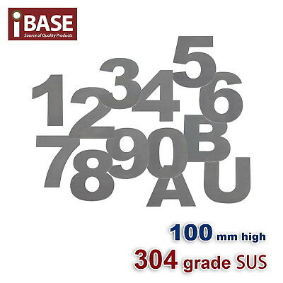 100Mm House Number Letters Numbers Letter Mail Box 304 Stainless Steel 0-9 A B U