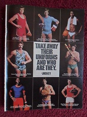 1977 Print Ad Jockey Men's Underwear Briefs ~ Pete Rose + Athletes No Uniforms