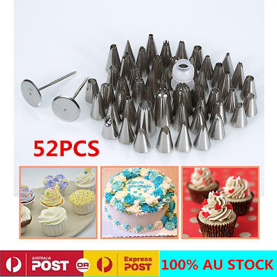 52pcs Russian Flower Cakes Decoration Icing Piping Nozzles Cupcake Pastry Tips