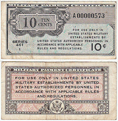1946-47 10 Cent Series 461 REPLACEMENT Military Payment Certificate VF