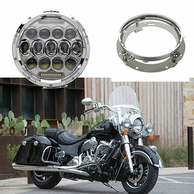 7'' Hi/Lo beam & Daytime Running Light Led headlight for Indian Chief Vintage