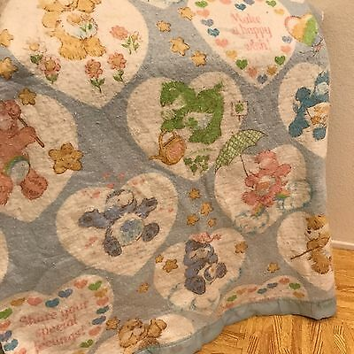 1984 Vintage Care Bear Cousins American Greeting Twin Acrylic Blanket