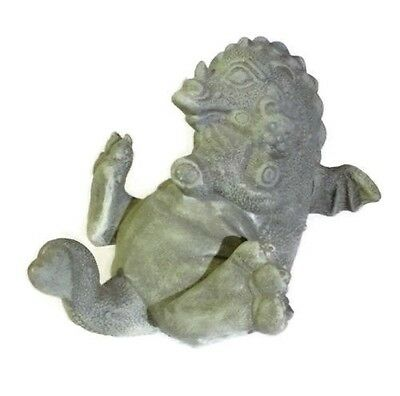 Baby Dragon Statue Hugging Teddy Bear Dragonette Garden Child's Room USA Made