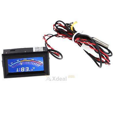 Digital Thermometer Temperature LCD Display Meter Gauge PC Mod C/F Long Prob New