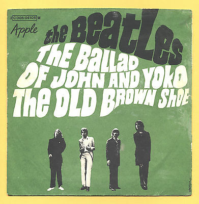 SOLO COPERTINA - COVER ONLY - THE BEATLES - The ballad of John & Yoko  PS FRA VG
