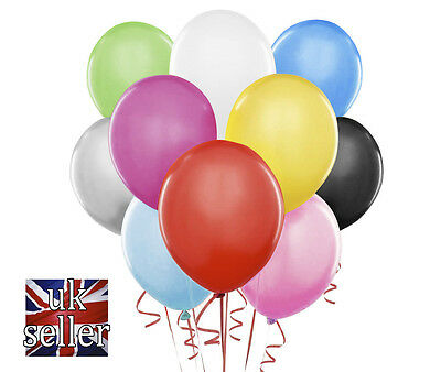 100 LARGE PLAIN BALLOONS BALONS  BALLONS helium Quality Birthday Wedding BALOONS
